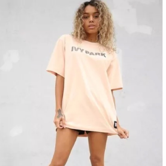 fe94ed61d88 ivy park Tops | Beyonce Pink Embossed Cotton Shirt Top Xs | Poshmark